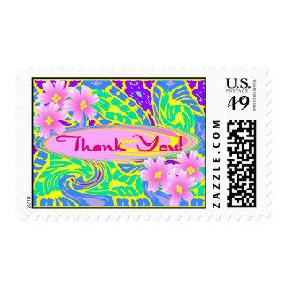 Flower Child Pop Art Thank you Postage Stamp