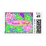Flower Child Pop Art Thank you Stamps