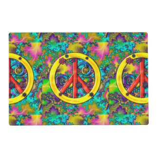 Flower Child Psychedelic Mixed Media Laminated Placemat