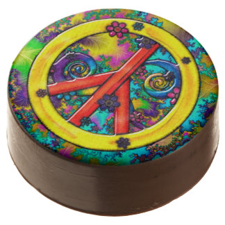 Flower Child Psychedelic Chocolate Covered Oreo