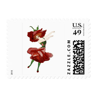 FLOWER CHILD - ROSE FLORAL FAIRY POSTAGE