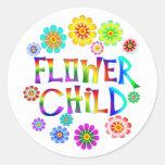 FLOWER CHILD ROUND STICKER