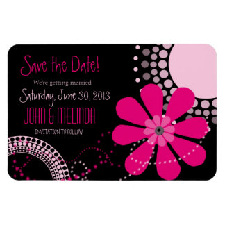 Flower Child Save the Date Rectangular Photo Magnet