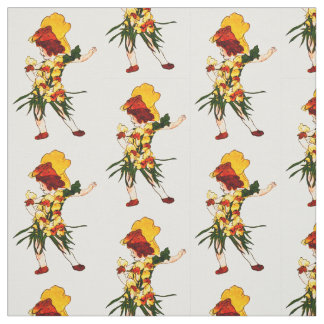 FLOWER CHILD - SNAP-DRAGON FLORAL FAIRY PATTERN FABRIC