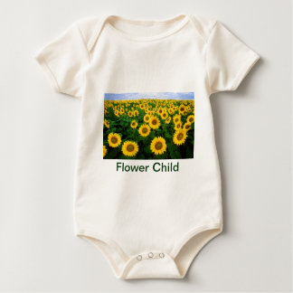 Flower Child Sunflower Field Yellow Flowers Baby Bodysuit