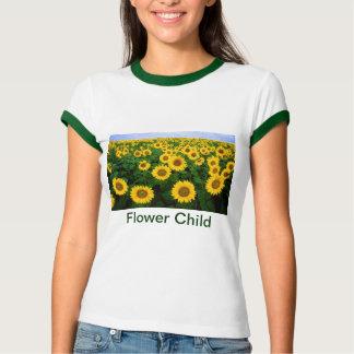 Flower Child Sunflower Field Yellow Flowers T-Shirt