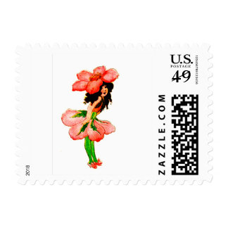 FLOWER CHILD - WILD ROSE FLORAL FAIRY STAMPS