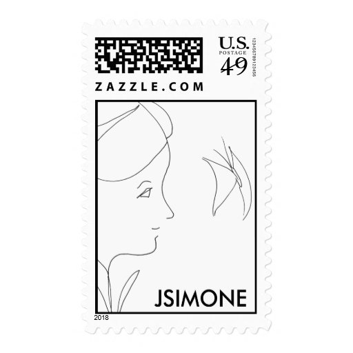 Flower Child with Butterfly... Postage Stamps