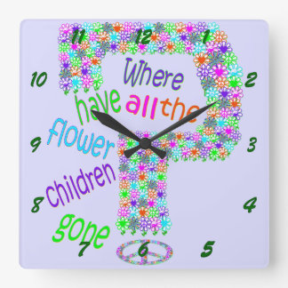 Flower Children Wall Clocks