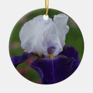 Flower Christmas Ornament -- Iris