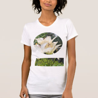 Flower Circle Design with Custom Circle Image T-Shirt