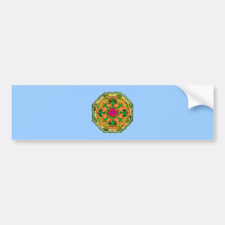 Flower circle more flower circle bumper sticker