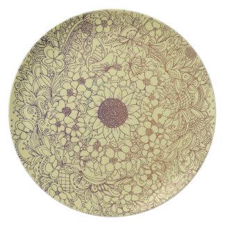 Flower circle plate