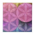 flower circle tiles