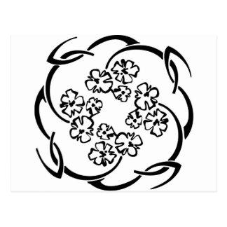 Flower Circlet Post Card