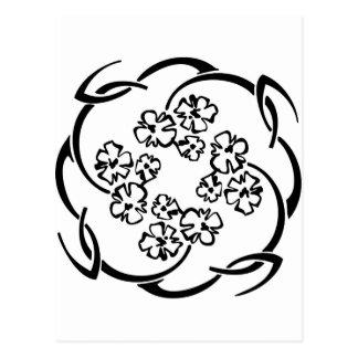 Flower Circlet Postcard