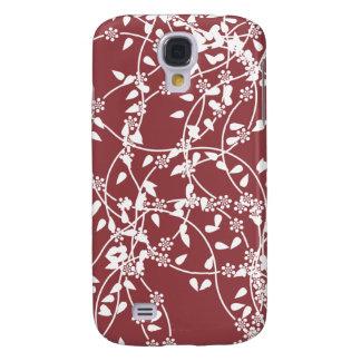Flower Claret Samsung Galaxy S4 Case