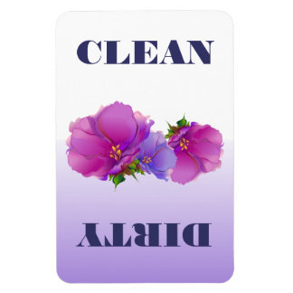 Flower Clean or Dirty Dishwasher Magnet