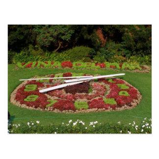 Flower Clock Postcard