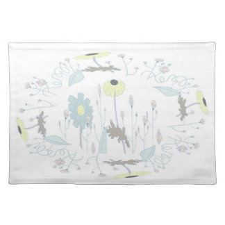 flower cloth placemat
