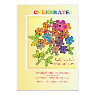 Flower Cluster Invitation