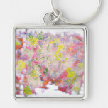 flower clusters key chains