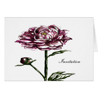 flower coctail party invitations