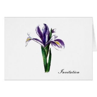 flower coctail party invitations card