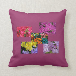 Flower Collage American MoJo Pillow