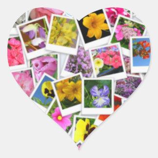 Flower Collage Heart Sticker