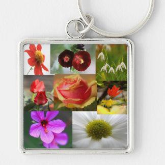 Flower Collage Keychain