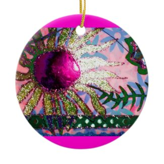 Flower Collage Christmas Ornaments