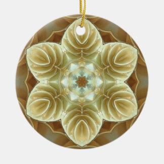 flower coquille ceramic ornament
