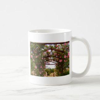 Flower covered walkway coffee mug
