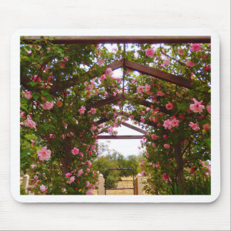 Flower covered walkway mouse pad