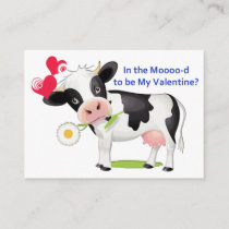 Flower Cow Valentine Cards to Hand Out for Kids