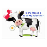 Flower Cow Valentine Cards to Hand Out for Kids Business Card Templates
