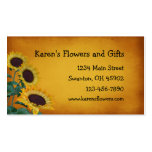 Flower Craft Gift Shop Double-Sided Standard Business Cards (Pack Of 100)