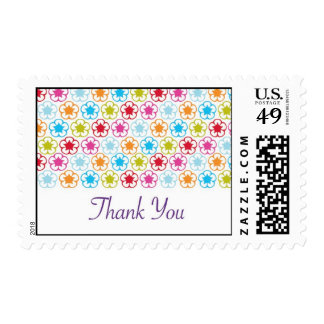 flower craze stamp wedding thank you postage