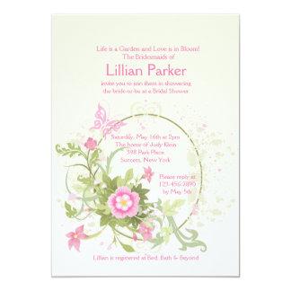 Flower Crescent Invitation
