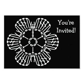 Flower Crochet Chart Pattern (Black & White) Card