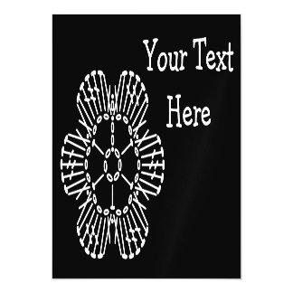 Flower Crochet Chart Pattern (Black & White) Magnetic Card