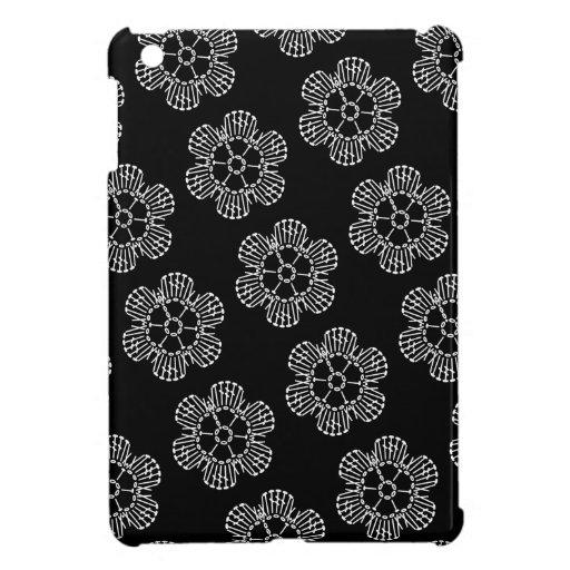 Flower Crochet Chart Pattern (Black & White Tiled) Case ...