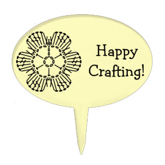 Flower Crochet Chart Pattern -Custom Background Cake Toppers