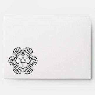 Flower Crochet Chart Pattern Envelope