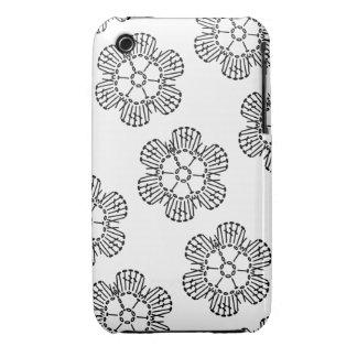 Flower Crochet Chart Pattern (Tiled) iPhone 3 Case-Mate Case