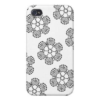 Flower Crochet Chart Pattern (Tiled) iPhone 4 Covers