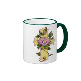 Flower Cross Coffee Mug