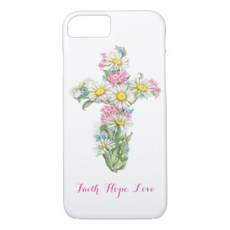 Flower Cross Phone Case
