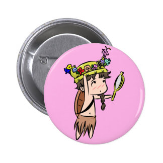 flower crown 2 inch round button